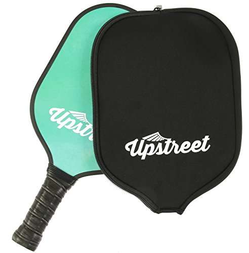 Beginner Wide Neck (Upstreet Graphite Pickleball Paddle with Neoprene Pickleball Paddle Cover - Lightweight Polypropylene Honeycomb Composite Core)