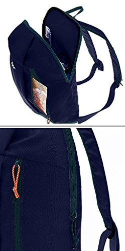 QUECHUA Kids Outdoor Travel Backpack For Hiking Camping Children Cute Hiking Daypack Colorful School Bags Patchwork Bookbags Mini Small Back Packs Rucksack 10L (Navy)