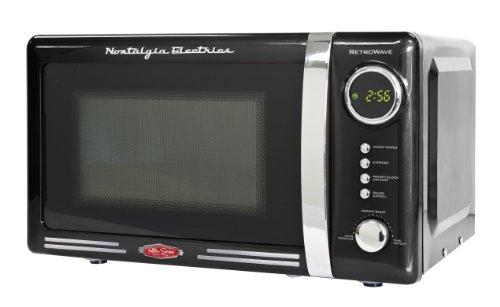 Nostalgia RMO770BLK Retro Series 0.7 Cubic Foot 700-Watt Microwave Oven