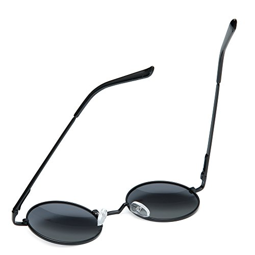 111a6f61bd Joopin-Round Retro Polaroid Sunglasses Driving Polarized Glasses Men  Steampunk (Black  Amazon.in  Clothing   Accessories
