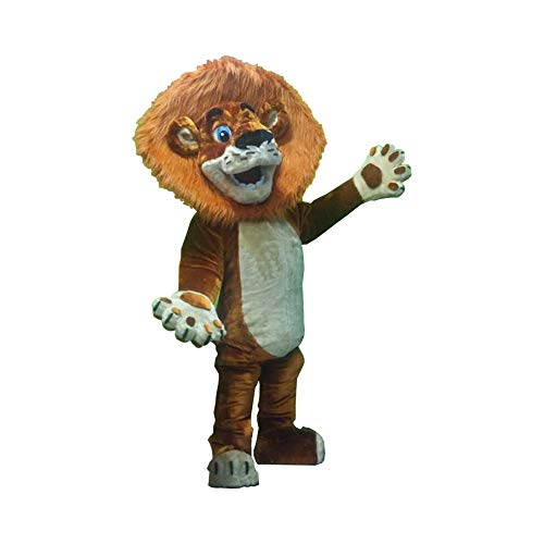 Alex Lion Madagascar Mascot Costume Party Character Adult Halloween Cosplay Suit