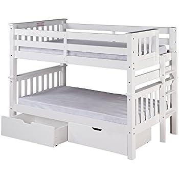 Amazon Com Camaflexi Santa Fe Mission Low Bunk Bed End