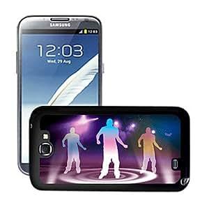 GONGXI-Ardiente baile patrón de caso duro del color personas1 efecto 3d para Samsung Galaxy Note N7100 ii