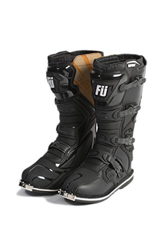 Leather Racing Boots - Füsport Dirt Pilot (DP-1) MX Boot (43 / US 9.5) Black
