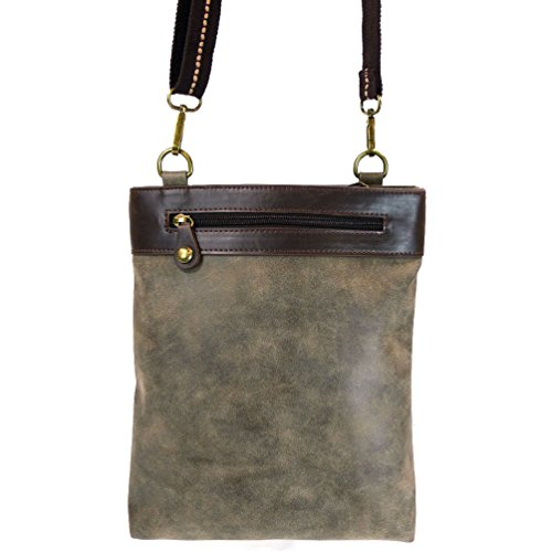 GEMINI Chala PU Messenger Bird Bag Grey Crossbody Leather aaqfxFrd