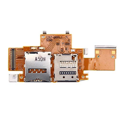 Wblue Cell Phones Repair Spare Parts Accessories SIM Card and SD Card Reader Contact Flex Cable for Sony Xperia Tablet Z / SGP311 / SGP312 / SGP321 for Mobile Phone