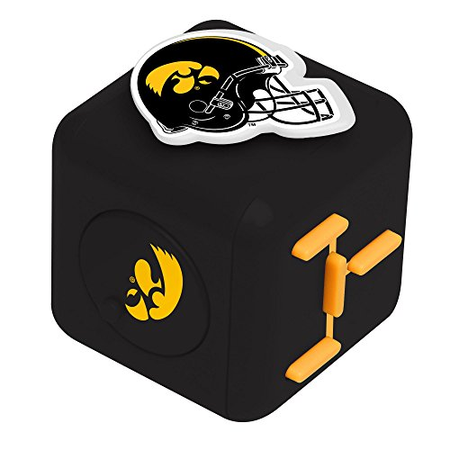 Forever Collectibles NCAA Iowa Hawkeyes Fidget CubeCubez Diztracto, Team Colors, One Size