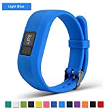 Bemodst Watchband for Garmin vivofit 3 Watch Wristbands, Garmin Replacement Pure Color Wrist Band Strap Soft Silicone Smartwatch Accessory Bracelet Band for Men Women (Light Blue)