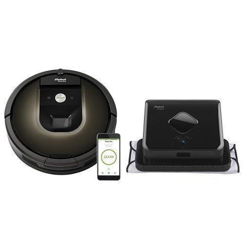 iRobot Roomba 980 Robot Vacuum with Wi-Fi Connectivity & iRobot Braava 380t Robot Mop