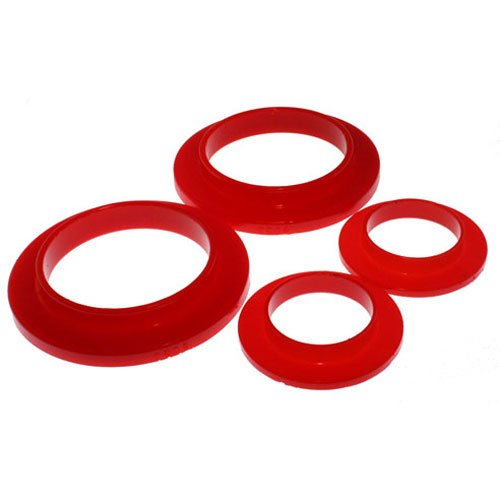 Energy Suspension 4.6101R Coil Spring Isolator Set; Red; Performance ()