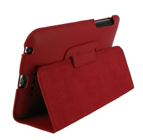 rooCASE Ultra-Slim (Red) Vegan Leather Folio Case for Google Nexus 7 Tablet (Built-in sleep / wake feature) Photo #5