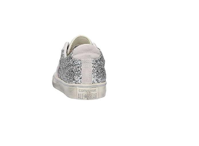 Converse , Herren Sneaker Silber weiß 41.5 EU: