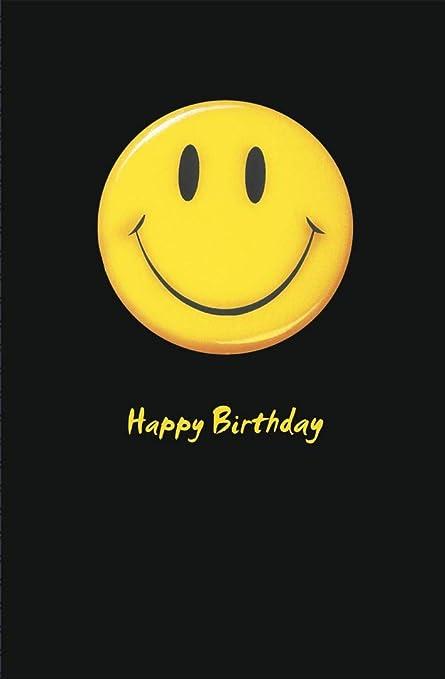 Amazon Happy Birthday Smiley Face Birthday Greetings Card °リーティングカード Ɩ‡æˆ¿å…· ªフィス用品