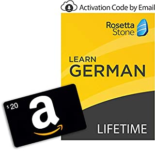 Rosetta Stone: Learn German [Lifetime Online/Mobile Access - Digital Code] with Amazon.com $20 Gift Card (B07HGX3L4S) | Amazon price tracker / tracking, Amazon price history charts, Amazon price watches, Amazon price drop alerts