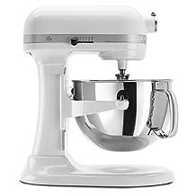 KitchenAid KP26M1XWH 6 Qt. Professional 600 Series Bowl-Lift Stand Mixer - White (Renewed)
