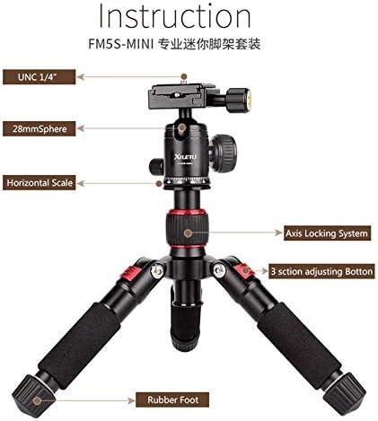 XILETU FM5S-MINI Aluminum Alloy Mini Tripod with 360 Degree Rotation Ball Head for Camera Color Red
