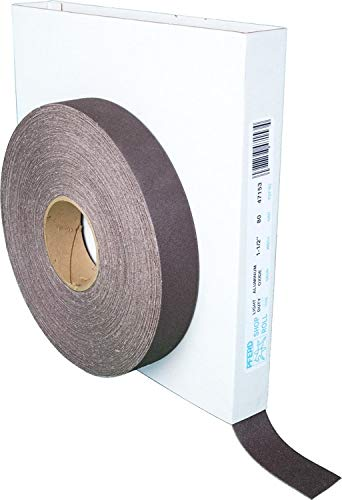 PFERD 47153 Flexible Light Duty Abrasive Shop Roll, Aluminum Oxide, 50 yd. Length x 1-1/2'' Width, 80 Grit by Pferd