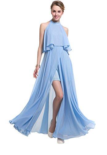 Yue Lian Damen Erwachsene Sommer Lange Kleid Halsträger Partykleider ...