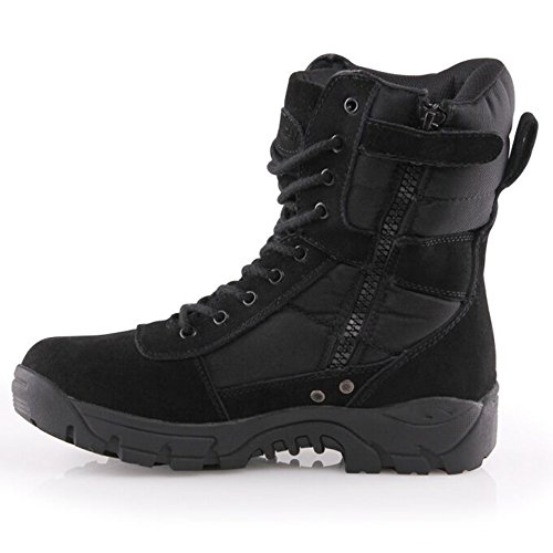 Burgan 888 All Terrain Tactical Size Zip Bota (unisex) Negro