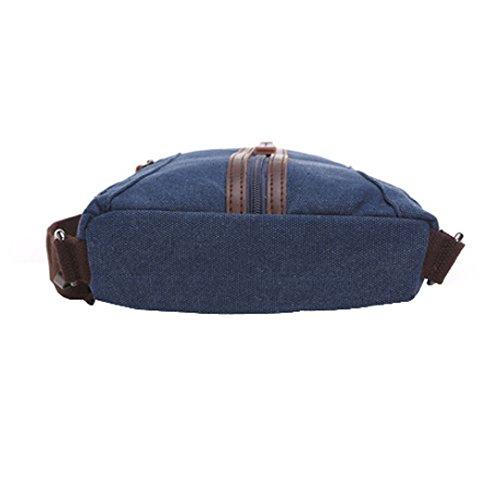 Wewod Bolso Mochila de Pecho del Hombro de la Lona de Viaje Deporte Ocio para Hombre y Mujer 18 x 27 x 5 cm (L*H*W) Azul marino