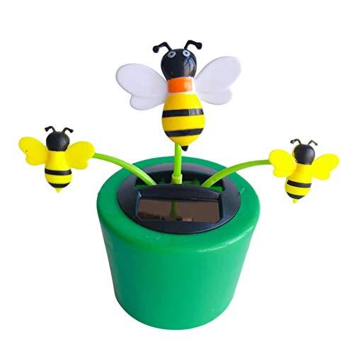 MICKYSHOES 태양 춤 꽃 창의적인 태양 에너지 장난감 태양 전지 자동 스윙 꽃 냄비 패션 태양 전원이 춤추는 꽃 장난감 OFFICE 데스크&자동차 장식