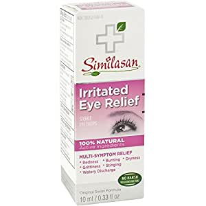 Similasan Irritated Eye Relief Eye Drops 0.33 Ounce Bottle, for Temporary Relief from Red Eyes, Itchy Eyes, Burning Eyes, and Watery Eyes