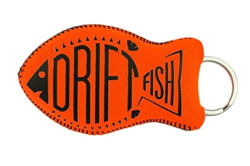 DriftFish Floating Neoprene Boat Keychain Key Float | Jumbo Size - Float 5 to 6 Keys | Waterproof Key Chain Buoy | Great for Boating and Water Sports, Orange