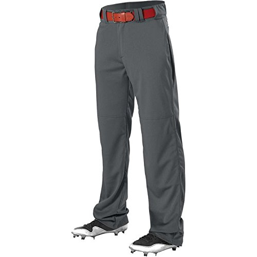 Alleson Athletic Youth Adjustable Inseam Baseball Pant, Charcoal, Medium