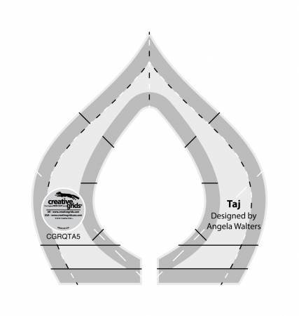 Creative Grids Machine Quilting Tool - Taj (CGRQTA5) by Creative Grids