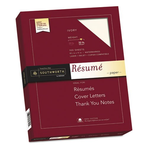 SOURD18ICF - Southworth 100% Cotton Resume Paper (Paper Linen Southworth Resume)