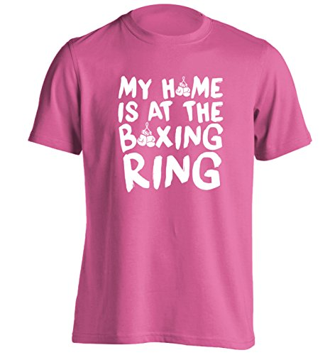 My home is at the boxing ring T-Shirt Small to 2XL by Flox Creative