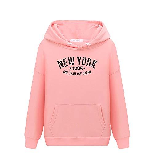 Taille Manches Coréennes O Unisexe Tops Uface Rose2 Casual Neck Tendances Longues Sweatshirt Imprimer Femmes Blouse Et Japonaises Grande Femme Sauvage Sweat TFI0w