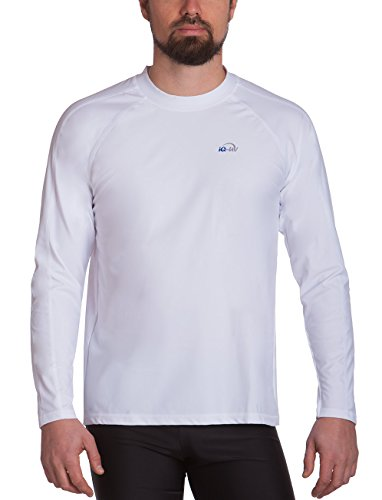 Manches 300 T Blanc shirt uv Iq Vêtement Loose Anti uv Longues EEAfZq