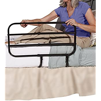 Able Life Bedside Extend-A-Rail - Adjustable Adult Home Safety Bed Rail + Elderly Assist Support Handle