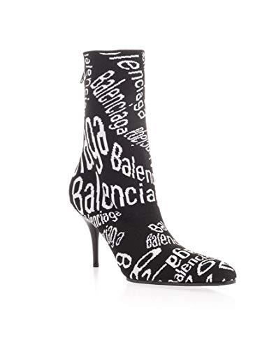 Balenciaga Luxury Fashion Woman 579377W1T301006 Black Elastane Ankle Boots | Fall Winter 19