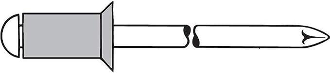 4,0 X 10,0 mm 500 St/ück Alu Edelstahl A2 Senkkopf Blindnieten Dichtnieten Nieten