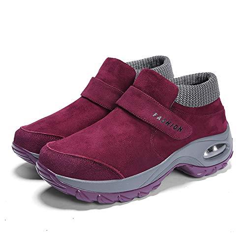Boots Pelliccia Caviglia Neve Uomo Sportive Stivaletti Scarpe Stivali Caloroso Donna Da Piatto Rosa Allineato Invernali wqa1Oq