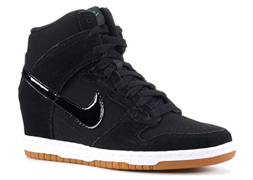 Nike Women's Dunk Sky Hi Essential Black/Black/Sail/Gum Med Brown Casual Shoe 6.5 Women US