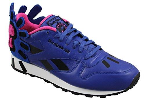X Reebok Classic V44584 Schuhe BLAU Leather Sneaker Lux Schuh Herren Keith Haring fxw6xT5OZq