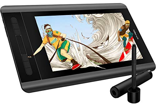 (XP-PEN Artist12 11.6 Inch FHD Drawing Monitor Pen Display Graphic Monitor with PN06 Battery-Free Pen Multi-Function Pen Holder and Glove 8192 Pressure Sensitivity)