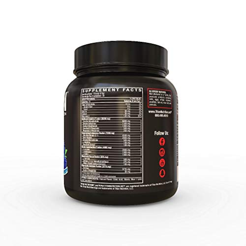 KRE EX: The Complete Pre-Workout Muscle Volumizer for Energy, Stamina, Strength, Size, and Pump (Blue Raspberry) by Titan Nutrition (Image #1)