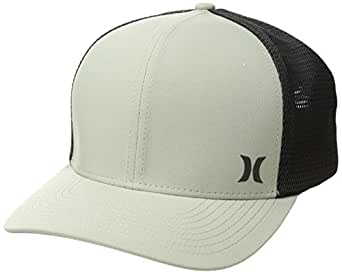 Hurley Men's Apparel Men's Milner Curved Bill Snapback Trucker Cap, Dark Stucco, Qty