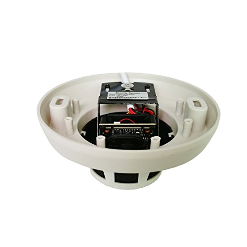 Ares Vision 5MP TVI/CVI/AHD/CVBS Hidden Covert Smoke Detector CCTV Camera (BNC) (5 MP)