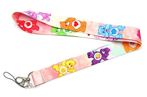 Care Bears Characters Repeat Design Lanyard Id Holder Keychain]()