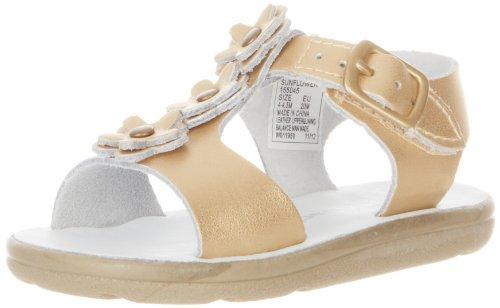 Toddler Girl's Jumping Jacks 'Sunrise' Sandal Soft Gold Leat