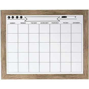 DesignOvation 209367 Beatrice Framed Magnetic Dry Erase Monthly Calendar