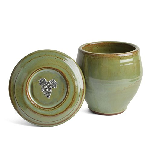 Oregon Stoneware Studio Vineyard French Butter Crock, Pistachio (Green Ceramic Pistachio Glazed)