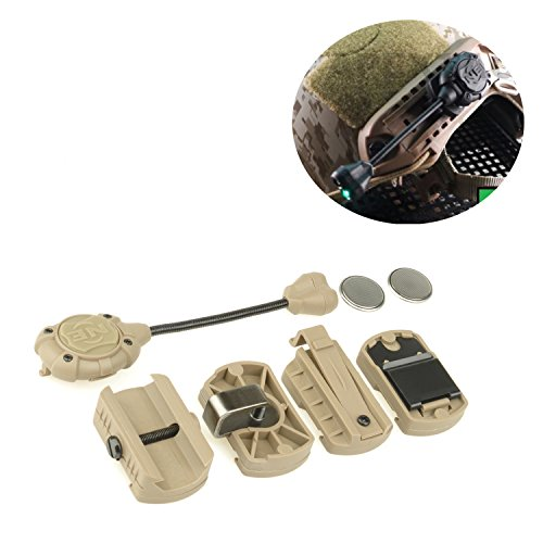 Elements Helmet (Element Airsoft Night Evolution Tec MPLS2 Helmet Lighting Lighting System With red Light For Hunting Weapons NE05009 (Tan))