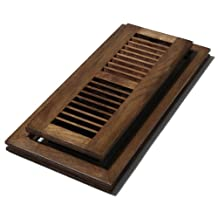 Decor Grates WLFH412-S 4-Inch by 12-Inch Wood Flush Mount Floor Register, Hickory Saddle