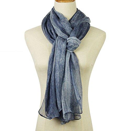 Unique Shade Color Elegant Long Polyester / Silk Scarf Thin Chiffon Shawl Scarf Lightweight 7537